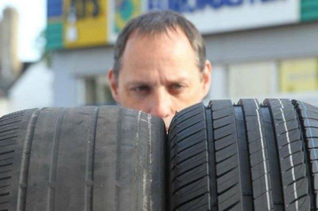 износени гуми